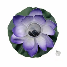 2017 NEW Solar LED RGB Lotus Flower Light Floating Fountain Pond Garden Pool Lamp MAY08_25
