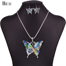MS1504260 Fashion Jewelry Sets Hight Quality Necklace Sets For Women Jewelry Silver Plated Butterfly Unique Design Party Gifts