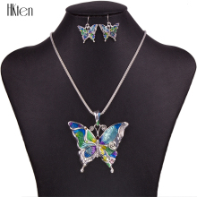 MS1504260 Fashion Jewelry Sets Hight Quality Necklace Sets For Women Jewelry Silver Plated Butterfly Unique Design Party Gifts(China)