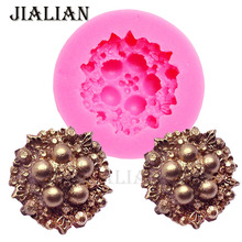 3D gem pearl Silicone Mold DIY Cake Decorating Tools Flowers Fondant chocolate sugar art displays T0904(China)