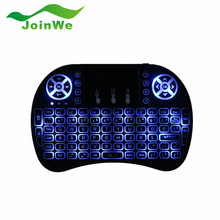 Original Backlight i8 English 2.4GHz Wireless Keyboard Air Mouse Touchpad Handheld Backlit for Android TV BOX Mini PC 3 Colors
