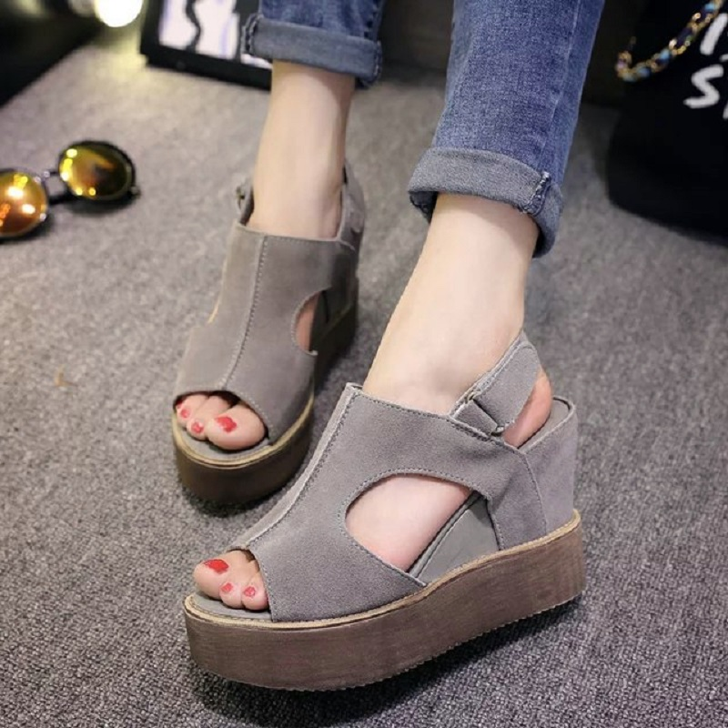 2016 new summer fashion women increased in the new slope with waterproof fish head sandals sexy sandals, free shipping<br><br>Aliexpress