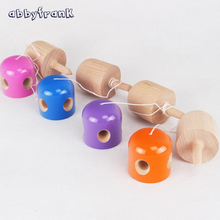 Abbyfrank Professional 5 Hole Kendama Pill Shape Kendama Ball Wooden Ball Kid Japanese Game Juggling Ball PU Paint Toy For Adult
