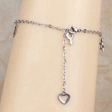 Top Fashion Stainless Steel Charm Heart Design Women's Chain Ankle Anklet Bracelet Barefoot Sandal Foot Jewelry New 2016 (A1012)