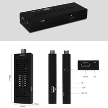DVB T2 U2C T2 1080P HD TV Receiver STICK (105mm) MSTAR7T01 + RT836 Single Core without LED External IR / USB Cable HDMI Dongle
