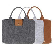 "13"" Portable Felt Carrying Notebook Sleeve Bag Handbag Case Cover with Handle & Zipper for MacBook/MacBook Air/Pro Laptop PC"