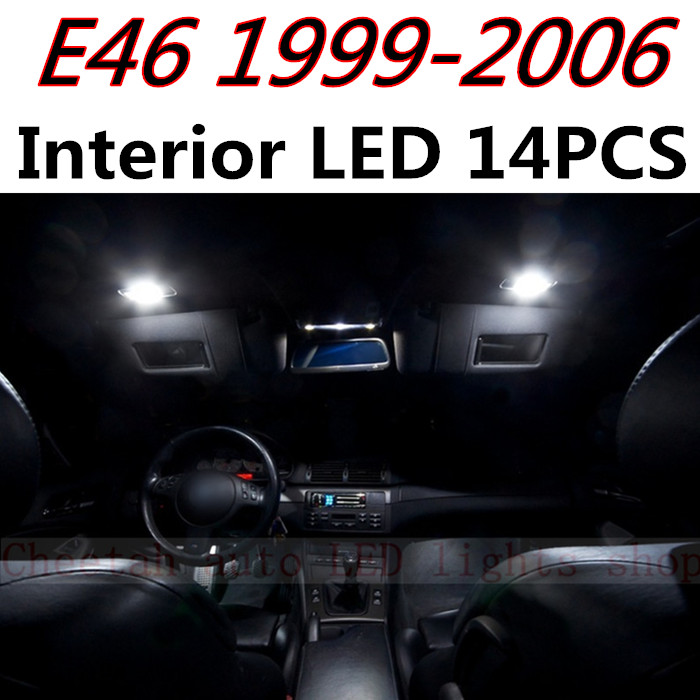 Cheetah 14pcs X free shipping Error Free LED Interior Light Kit Package for BMW E46 M3 accessories 1999-2006<br><br>Aliexpress