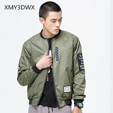 2017 new letter cartoon print jacket men on both sides wear teenager baseball service Japanese big code trend thin coat man