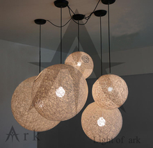 ark light free shipping dia 35cm white wicker ball led pendant light modern brief rattan balcony ball lamps