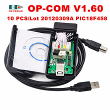 2017V1.60 Latest Version OPCOM with PIC18F458 chip OBD2 OP-COM/OP COM CAN BUS Interface OBDII For Opel scanner diagnostic op com