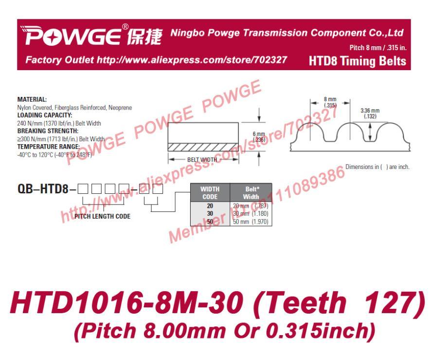 HTD 8M High Torque HTD1016-8M rubber timing belt 1016 8M 30 teeth 127 width 30mm length 1016mm HTD1016-8M-30 Arc teeth HTD8M<br><br>Aliexpress