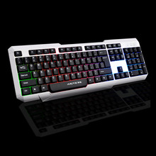 Game mechanical feel keyboard 87/104 Color light red black black switch backlit LED wired keyboard Russian sticker