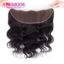 Annmode Peruvian Body Wave Lace Frontal Closure 13*4 Free Part Free Shipping 100% Non-Remy Human Hair