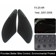 For Kawasaki ZX-6R ZX6R 2007 2008 ZX 6R Motorcycle Anti slip Tank Pad 3M Side Gas Knee Grip Traction Pads Protector Stickers(China)