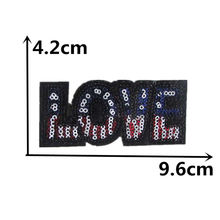 brand new LOVE Hot melt patches DIY sewing clothes down jacke embroidery patch clothes applique decorate pattern1pcs for sale