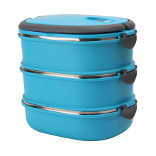 2/3 Tiers Portable Food Container Thermal Insulated Bento Mess Tin Travel Picnic Food Storage Boxes Lunchbox Kitchen Tool(China)