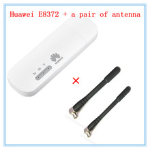 Unlocked Huawei E8372 ( plus a pair of antenna) LTE USB Wingle LTE Universal 4G USB WiFi Modem car wifi E8372h-608 E8372h-153(China)