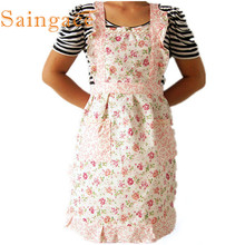 My House Women Home Kitchen Cooking Bib Flower Style Pocket Lace Apron Dress  Hot Pretty Fashion Heaven Free Shipping Oct7