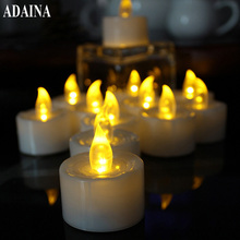 12 pcs LED Rechargeable Flameless Tea Light Candle set electric votives waxless safe romantic birthday wedding church bar decor(China)