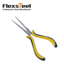 "Flexsteel Good Quality High Carbon Steel Material  6""/150mm Needle Nose Plier Jewelry Plier With Nickle Plated Surface"