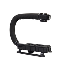 DSLR Camera Action Grip Stabilizing Handle Black C-shaped bracket Stabilizer for DSLR Cameras Camcorders Phone WSA-641A(China)
