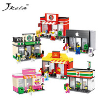 Buy Jkela Mini Street Model Store Shop Apple Store McDonald`s Building Block Toys Compatible Legoingly Hsanhe children for $7.21 in AliExpress store