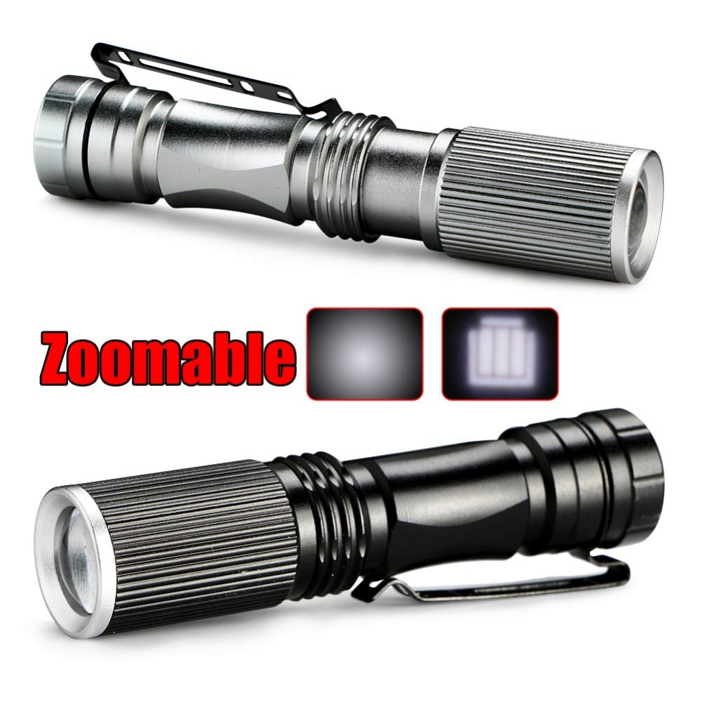 2016 Mini LED Flashlight ZOOM 7W CREE Q5 Led 2000 Lumens Waterproof Lanterna LED Zoomable Flashlight Torch For AA/14500 battery