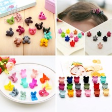 Shapu 10pcs Children's animal flowers cute for girls baby hair clips hair accessories kids headwear hairpin bears rabbit crown