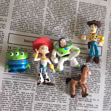 5 pcs/set Toy Story 3 Buzz Lightyear & Woody & Green Man PVC Figures Doll Decoration Favorites
