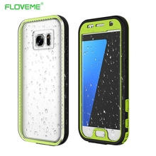 FLOVEME For Galaxy S7 Waterproof Case Shock Proof Underwater For Samsung Galaxy S7 G9300 Water Mobile Phone Cases Accessories