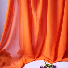 "Orange Chiffon Fabric Sheer Bridal Wedding Dress Lining Fabric Skirt 60"" Wide 5 Yards Per Lot Free Shipping"