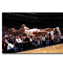 NICOLESHENTING Backboard King Dennis Rodman Basketball Art Silk Fabric Poster Print Sports Pictures for Home Decor 024