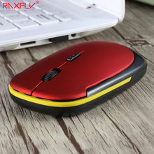 RAXFLY Super Slim Wireless USB Mouse PC Computer Laptop Gaming Gamer Wheel Mouse Optical 1600dpi 2.4GHz 4 Bottoms Office Mice(China)