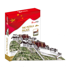 Development of intelligence,Educational toys,good quality,foam,emulational,toys,paper model,Lhasa,the Potala Palace,3D PUZZLE