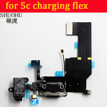 SHUOHU For iPhone 5c  Charger Charging port Dock USB Connector Data Flex Cable Headphone Jack Flex Ribbon