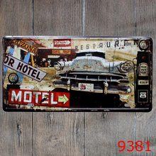 Keuken Decoratie Cal Motel Vintage Metal Tin Sign Plate Sign Wall Decoration for Cafe Home and Restaurant