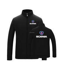 New high quality for men and women Trucks Scania sweatshirt zipper jacket casual coats Fall and winter clothes