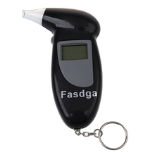 AUTO -Fasdga Digital Alcohol Tester Breath Alcohol Tester Analyzer Keychain incl. 4 mouthpieces Black(China)