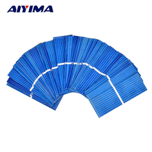AIYIMA 100pcs 0.5 V Solar Panel 52x19mm Polycrystalline Silicon Photovoltaic Solar Panels Sunpower Cells DIY Cell Phone Charger(China)