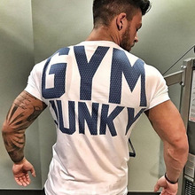 Buy Mens summer gyms t shirt Fitness Bodybuilding Crossfit Cotton Shirts Short Sleeve workout male fashion Casual Tees Tops clothing for $7.99 in AliExpress store
