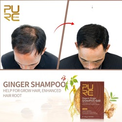 Фиолетовый органический ручной работы холодный обработанный имбирный Шампунь Бар для выпадения волос шампунь и натуральные без химически...