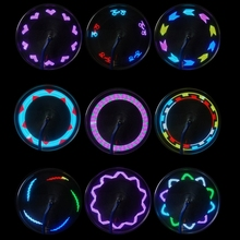 14 LED Motorcycle Cycling Bicycle Bike Wheel Signal Tire Spoke Light 30 Changes(China)