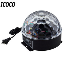 ICOCO 2017 New Arrival 6 Colors LED Cystal Magic Ball Magic Ball Effect Light For KTV Disco DJ Stage Party FD-LED06  Wholesale