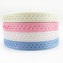 "david angie 7/8""(22MM) Hollow Leaf Lace Ribbon Tape 5 Yards,DIY Holiday Party Wedding Decorations,Packing Gift Wrap,5Y51335(China)"