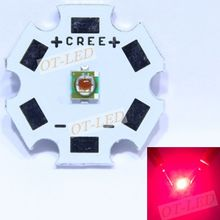 NEW 1pcs 1-3W CREE XP-E XPE Photo Deep Red 660nm LED Deep Red LED Emitter Didoes on 20mm/16mm/14mm/12mm/8mm PCB(China)