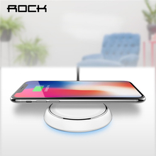 ROCK QI Wireless Charger For iPhone X 10 8 Samsung Note 8 S8 Plus S7 S6 Edge Phone Fast Charging Pad Quick Charge Smart USB Dock(China)