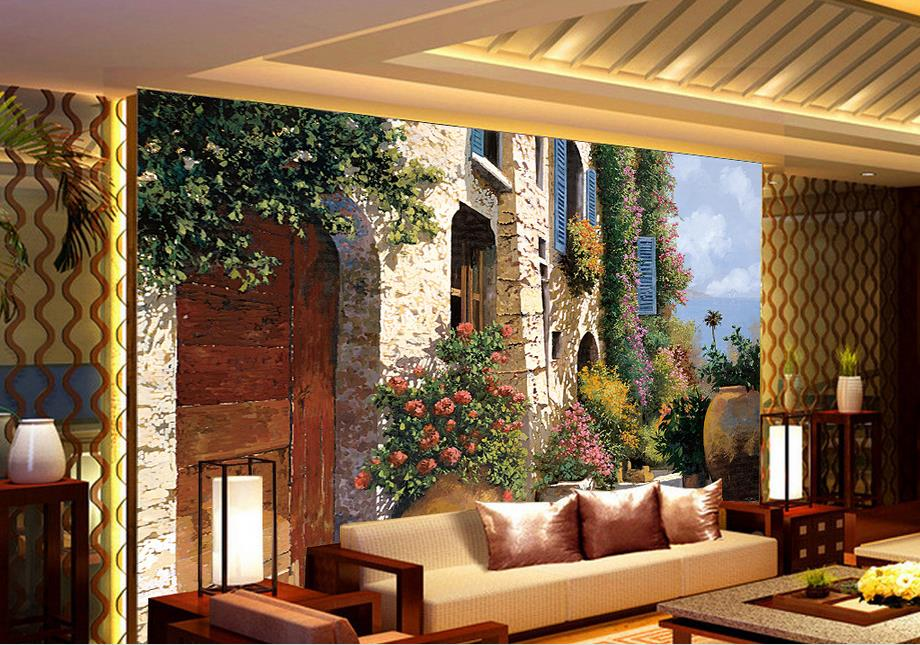 customized wallpaper for walls 3 d photo wallpaper Flower oil painting 3d wallpaper walls wallpapers for living room<br><br>Aliexpress