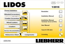 Liebherr Lidos 2013+2014update All Parts & Service Complete Set+HDD 500GB