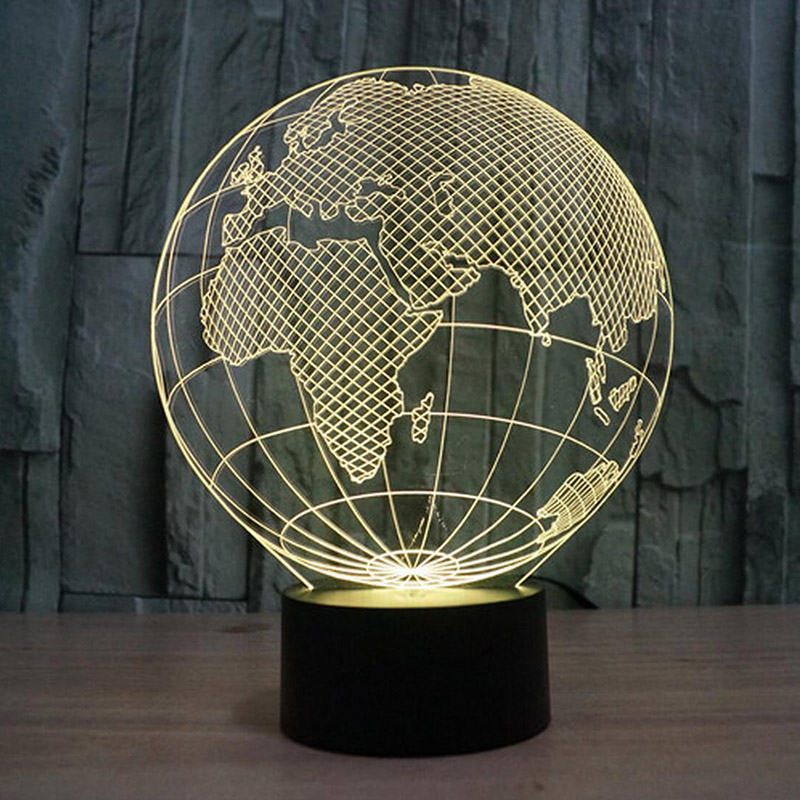 3D  acrylic America map night light lamp charging luna light best christmas birthday gift round light free shipping<br><br>Aliexpress