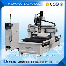 AccTek cnc router italy Auto feeding atc cnc router wood furniture design machine cnc atc carousel too changer machine